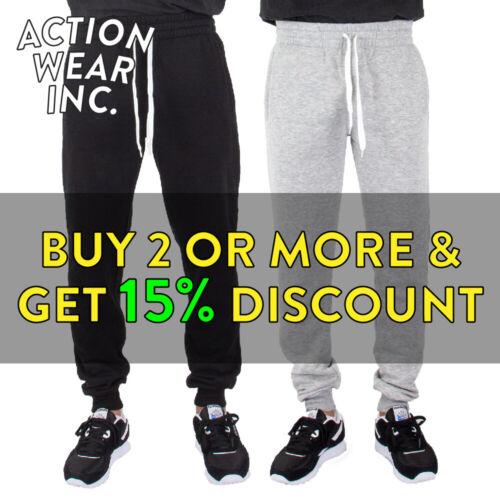 Mens Plain Sweatpants Casual Joggers 3 Pocket Basic Fleece Pants Hip Hop