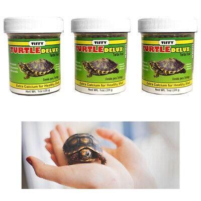 3 Pack Turtle Deluxe Food Extra Calcium Shell Protein Vitamin Aquatic Aquarium