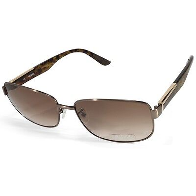 Guess GU 4001-D 6448F Gunmetal Havana/Brown Gradient Men's Sunglasses
