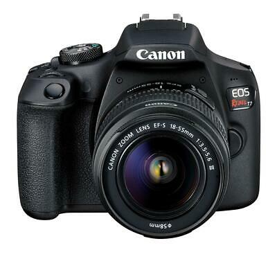 Canon EOS Rebel T7 24.1 MP Digital SLR Camera - Black (Kit with 18-55 Lens) NEW