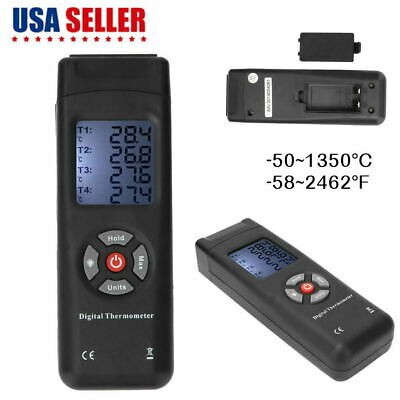 4-channel K-type Thermocouple Lcd Thermometer Temperature Meter -501350c