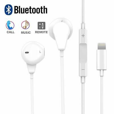 For Genuine iPhone 7 8 X 11 Pro Lightning EarPods Headphones EarPhones With Mic