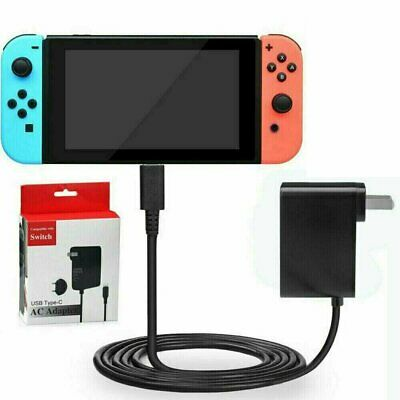 For Nintendo Switch AC Power Supply Adapter Home Wall Travel Charger Cable 2.4A Chargers & Charging Docks