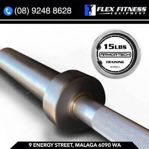 New Olympic Aluminium Training Barbell 15LBS, 7KG, Junior Bar