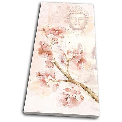 Buddha Peace Mandala Rose Religion SINGLE Leinwand Wand Kunst Bild drucken