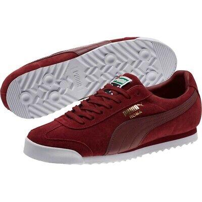 Puma Roma Suede Trainers Pomegranate Sneaker  retro chic