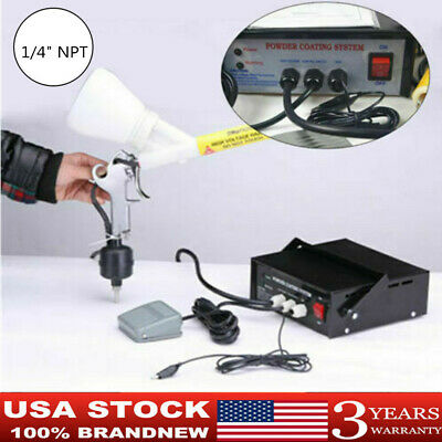 Powder Coating System Home Portable Coat Machine Paint Spray Gun 14 Npt Thread