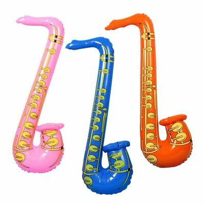 1 Inflatable Music Instruments Saxophone Fancy Party Accessories Blow Up Toys (Blow Up Saxophone)