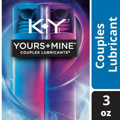 K-Y Yours + Mine Couples Personal Lubricant & Intimate Gel, 3