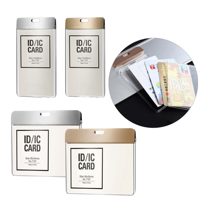 Badge Protector Cover Work Card Holders Name Card Card Sleeve ID Card Pouch