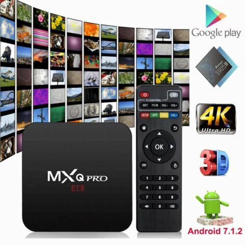 MXQ Pro 4K Ultra HD 3D 64Bit Wifi Android 7.1 Quad Core Smart TV Box + KODI 18