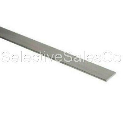 Stainless Steel Flat Bar Stock 18 X 1 X 6 Ft. Rectangular 304 Mill Finish