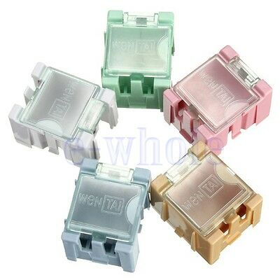 10pcs 1 Mini Smd Smt Box Electronic Capacitor Kits Components Green Storage Tw