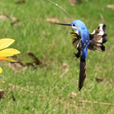 Decoration Birds Fluttering Solar Power Hummingbird Garden Decor Vibration