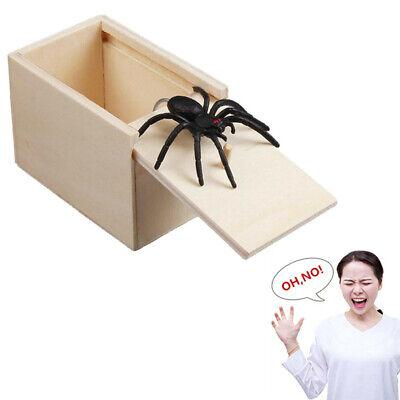 Surprise Spider in Wooden Box Gag Gift Practical Joke Prank