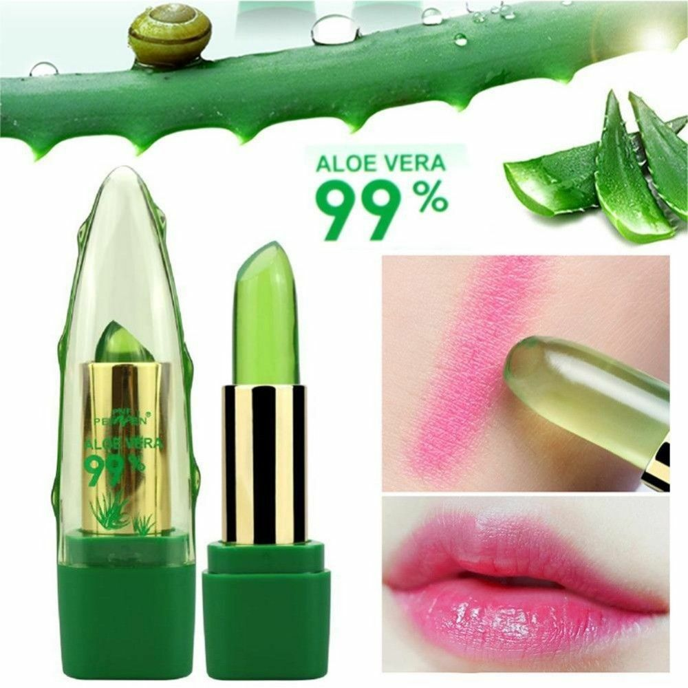 99% ALOE VERA Moistourizing Lip Natural Temperature Change Color Jelly Lipstick Health & Beauty