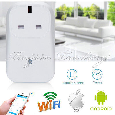 2/3/4G WiFi Phones APP Remote Control Smart Socket Timer UK Power Plug Switches