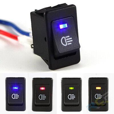 Blue LED On/Off Indicator Rocker Toggle Switch Driving Fog Lamp/Work Light Bar Bmw Fog Light Switch