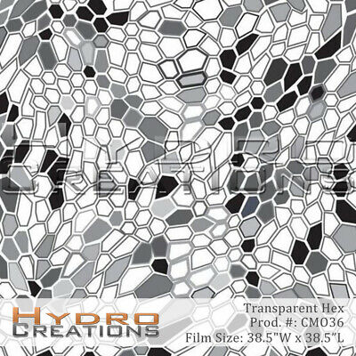 Hydrographic Film Hydro Dipping Water Transfer - Transparent Hex 38.5 X 38.5