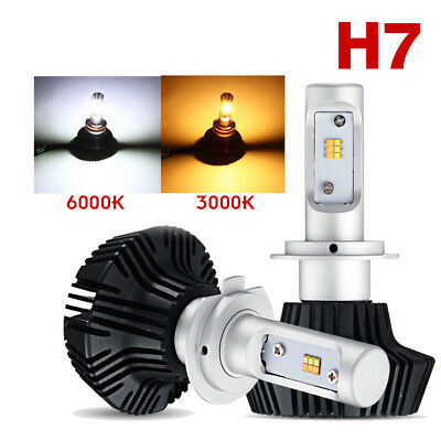 Cree H7 1020W LED Headlights Conversion kit Lamp Bulbs 6000K/3000K High Power