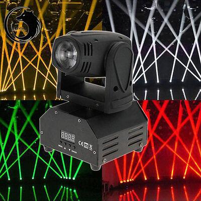 10W DMX-512 RGBW Beam LED Moving Head Light DJ Disco Club Show Stage Lighting
