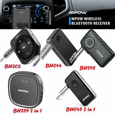 Mpow Bluetooth 5.0 Transmitter & Receiver Car Aux Audio Music Adapter Hands-free