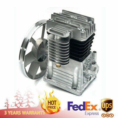 3hp Piston Style Oil Lubricated Air Compressor Pump Motor Head Air Tool 2.2kw Us
