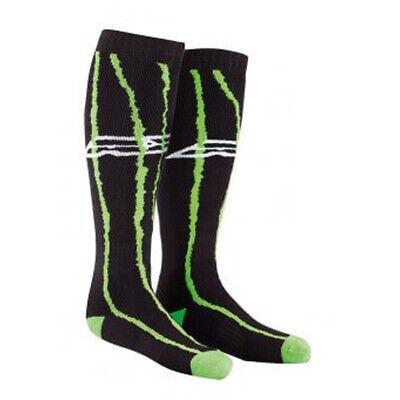 AXO MX Long Socks - Black/Green Adult One Size Fits Most Axo Mx Socks