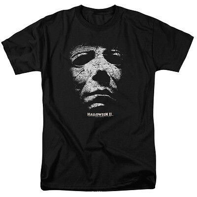All Halloween Movie Masks (Halloween II Movie Michael Myers MASK Licensed Adult T-Shirt All)
