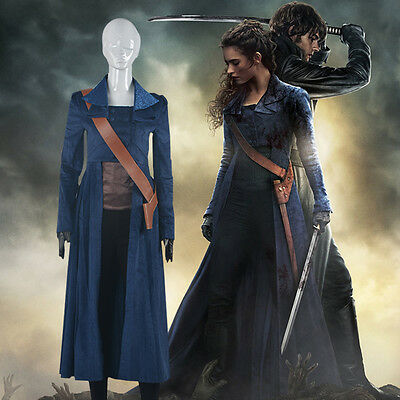 Pride and Prejudice and Zombies Elizabeth Bennet Cosplay Costume Fancy Dress ](Pride And Prejudice And Zombies Costume)