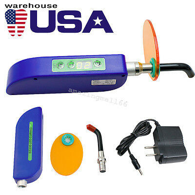 Usa Dental Wireless Cordless Led Curing Light Lamp 2000mw Dentist Use Blue Color
