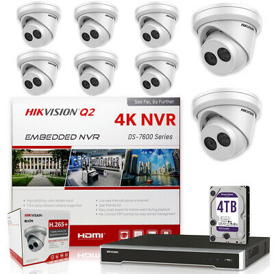 Hikvision DS-7616NI-Q2/16P 16CH 4K NVR w/ 8 x DS-2CD2343G0-I 4MP 4.0mm 4TB Drive