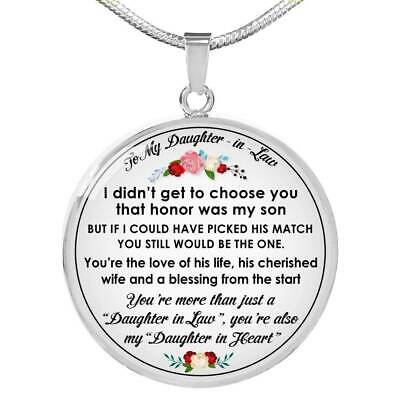 Love Gifts For Daughter in Law - Novelty Unique Necklace for Birthday Wedding  (Novelty Necklaces)