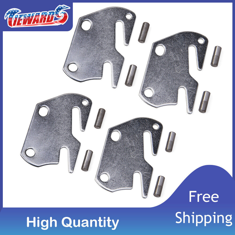 4 PCS Wood Bed Rail Double Hook Plate Replacement NEW