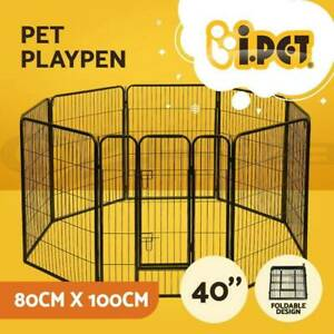40 Pet Dog Playpen Kennel Puppy Enclosure Fence Cage Play Pen 8 Panel