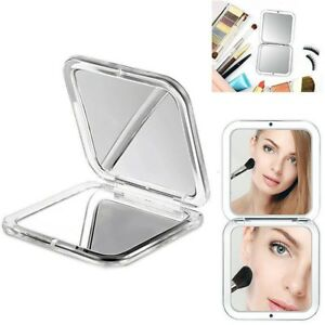 1 Folding Mirror Compact Magnifying Travel Cosmetic Makeup Handheld Double Sided