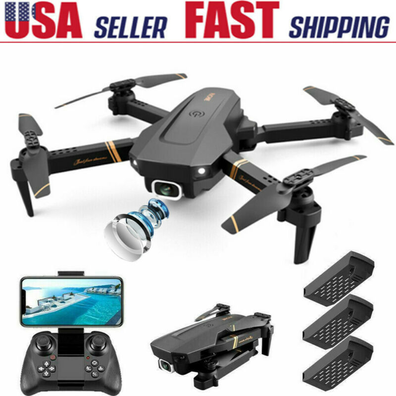 Drone X Pro Foldable Quadcopter WIFI FPV 1080P HD Camera 3 Extra Batteries Gift
