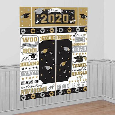 Abschluss Szene Setter Klasse Von 2020 Party Wand Dekoration Hintergrund Gold