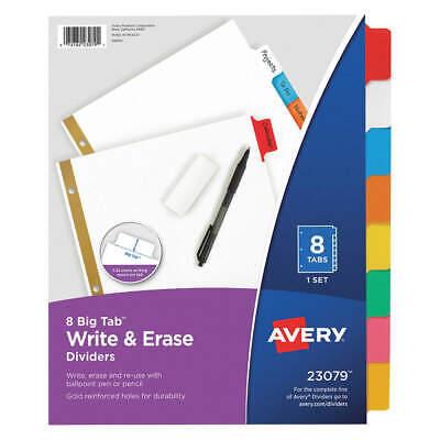 Avery 7278223079 Binder Dividerwrite-on Tabsmulticolor