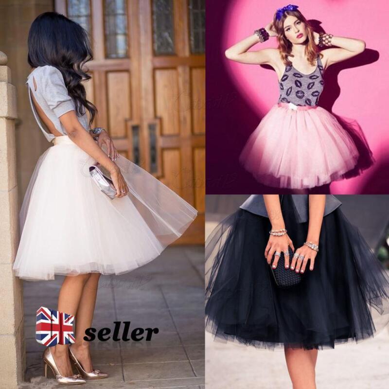 820c51f038da 7 Layer Tulle Skirt Vintage Dress 50s Rockabilly Tutu Petticoat Ball Gown  Skater фото