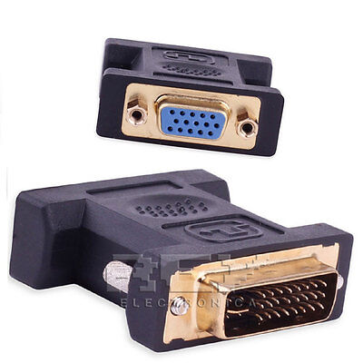 Adaptador VGA Hembra DVI-I Macho 24 + 5 Conector Conversor