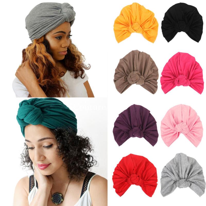 Bohemia Style Ruffles Skullie Knotted Elastic head wrap cap