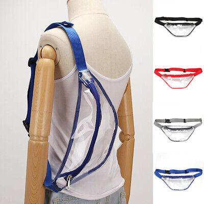 Clear Hobo (USA Womens Fanny Pack PVC Clear Pouch Belt Waist Bum Bag Waist Phone Pocket )