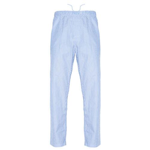 Ritzy Men/Kids/Boys Pajama Pants 100% Cotton Woven Poplin - BL & WH Stripes