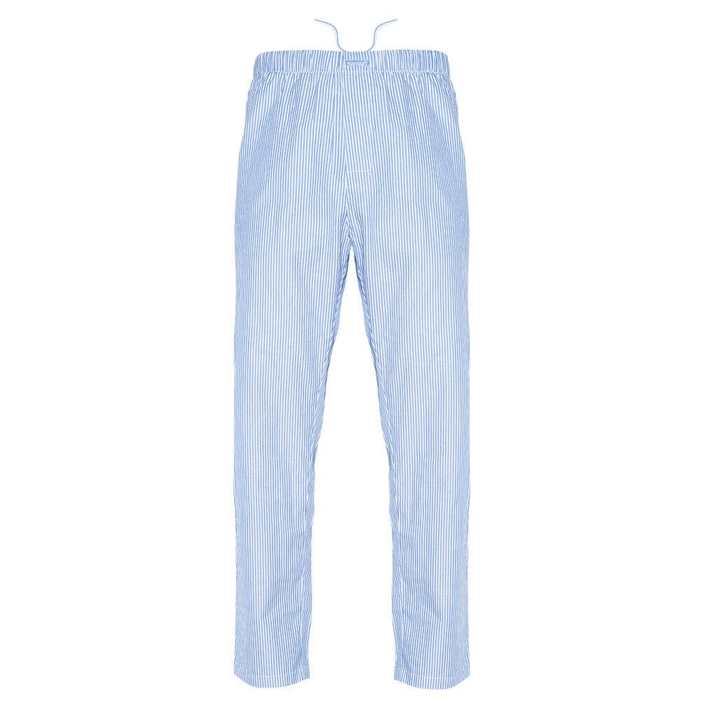 Ritzy Men/Kids/Boys Pajama Pants 100% Cotton Woven Poplin – BL & WH Stripes Clothing, Shoes & Accessories