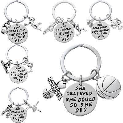 Key Chain Sport Play Tennis Football Basketball Charm Keychain Gift Graduation](Fun Graduation Gifts)