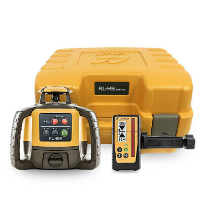 Topcon Rl-h5a Rotary Laser Level W Ls-100d Receiver And Rechargeable Battery