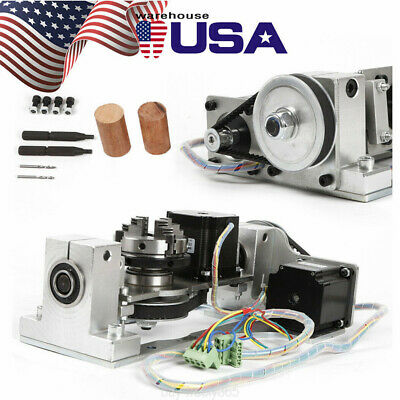 Cnc Engraving Machine 54 Axis Rotary Axis With Chuck Table For Diy Cnc Router