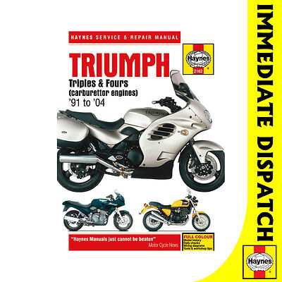 [2162] Triumph Triples Fours (Carburettor Engines) 1991-2004 Haynes Workshop Man