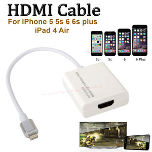 8pin lightning to hdmi HDTV adapter Cable for iphone 5 5s 6 6s 6plus SE iPad Air